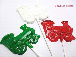 12 HOLIDAY TRAIN LOLLIPOPS - Holiday Candy, Christmas Lollipops, Holiday... - $13.99