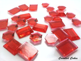 125 RED EDIBLE SUGAR  Jewels- Featured in Brides Magazine - $16.99