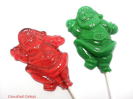 12 SANTA HOLIDAY Lollipops - Stocking Stuffers, Holiday Favors - $13.99