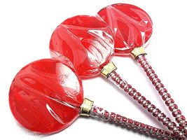 12 LARGE 2.5 INCH RED Lollipops with Bling Stick - Bridal Shower and Bir... - $24.99