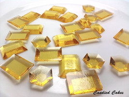 125 GOLD EDIBLE SUGAR Jewels - Featured in Brides Magazine - $16.99