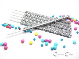 16 - SILVER Cake Pop Bling Sticks - Free US Shipping - $11.99