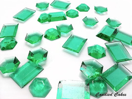 125 TEAL EDIBLE SUGAR Jewels - Featured in Brides Magazine - $16.99