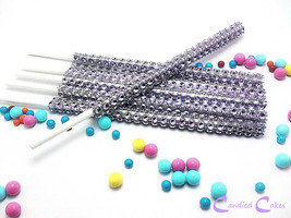 16 - LAVENDER Cake Pop Bling Sticks - Free US Shipping - $11.99