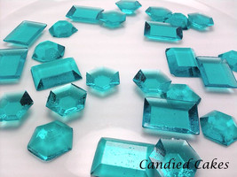 250 TURQUOISE EDIBLE SUGAR Jewels - Featured in Brides Magazine - $22.99