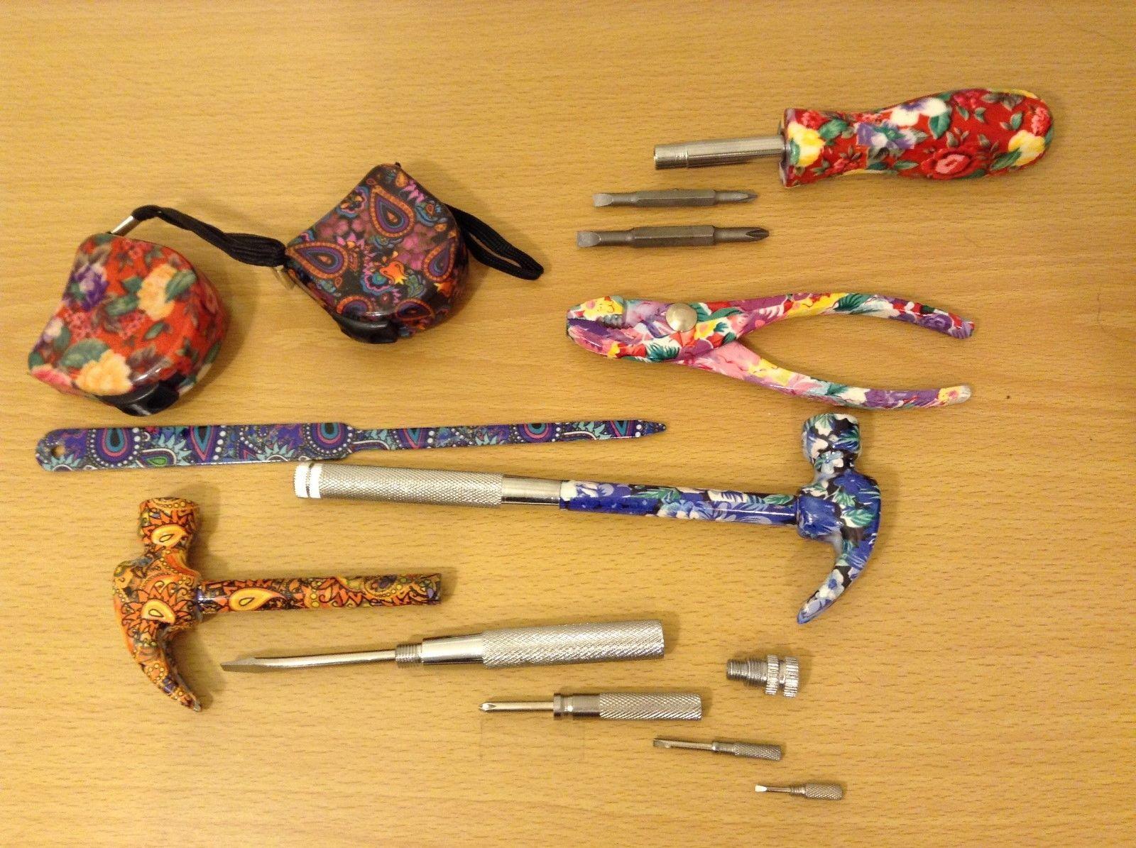 Mixed Pretty Multicolor Floral Tool Set