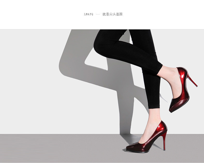 Primary image for pp164 Sexyl pointy pumps high stiletto, cany color,size 35-38
