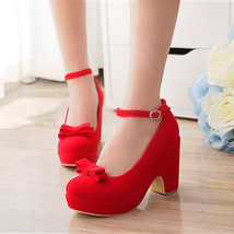 pp183 crossed strappy high-wedge pump,size 34-39 - $42.80