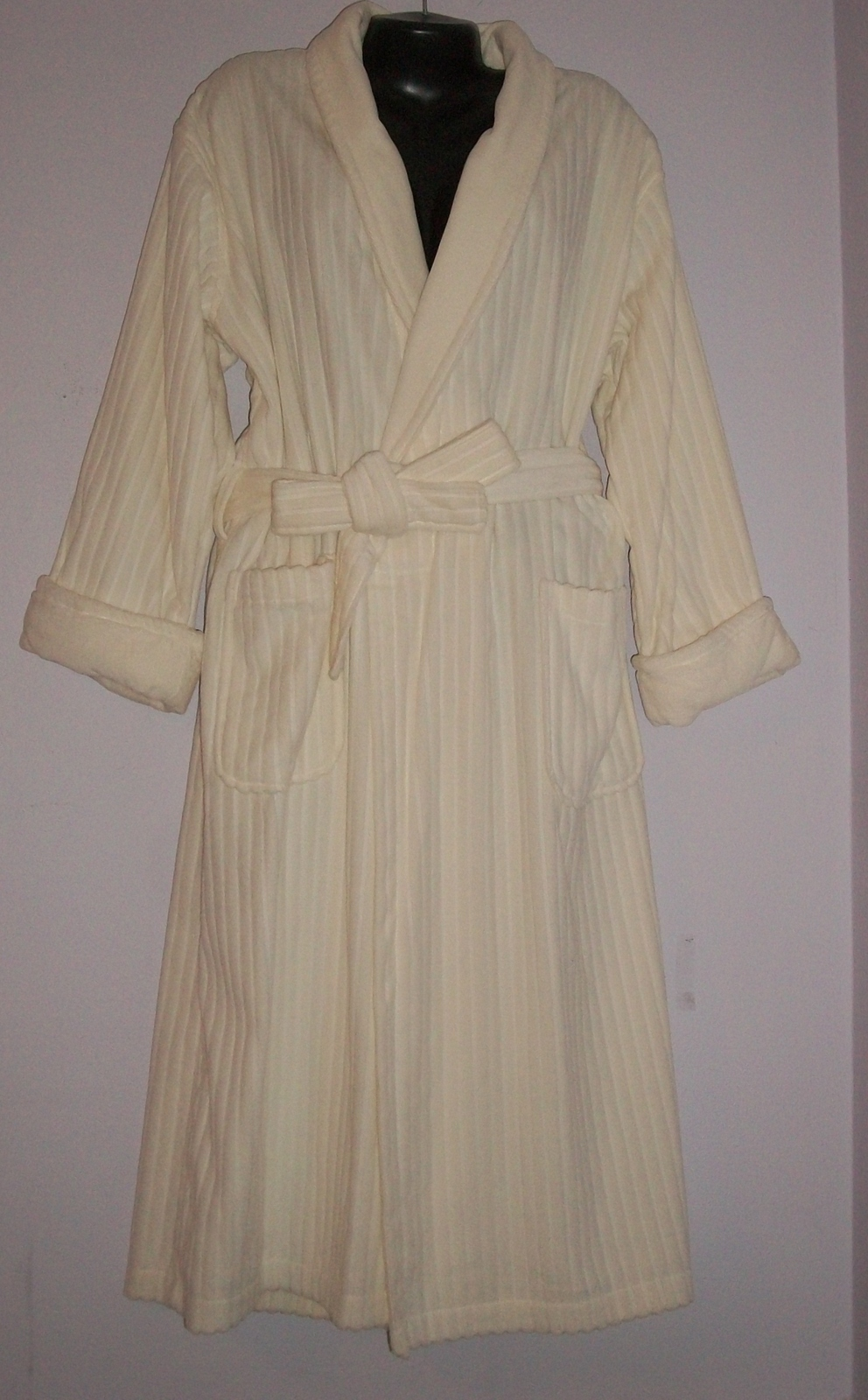 Primary image for  Laura Ashley Ultra-Plush Shawl Collar Wrap Robe-Med NWOT