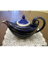 Cobalt  Blue  HALL  Aladdin  Tea Pot  Teapot  w... - $79.00