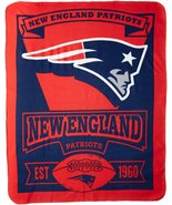 NFL New England Patriots Marque Printed Fleece Throw, 50-inch by 60-inch - $25.69