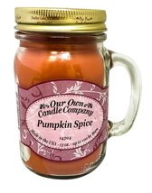 Pumpkin Spice Scented 13 Ounce Mason Jar Candle... - $16.82