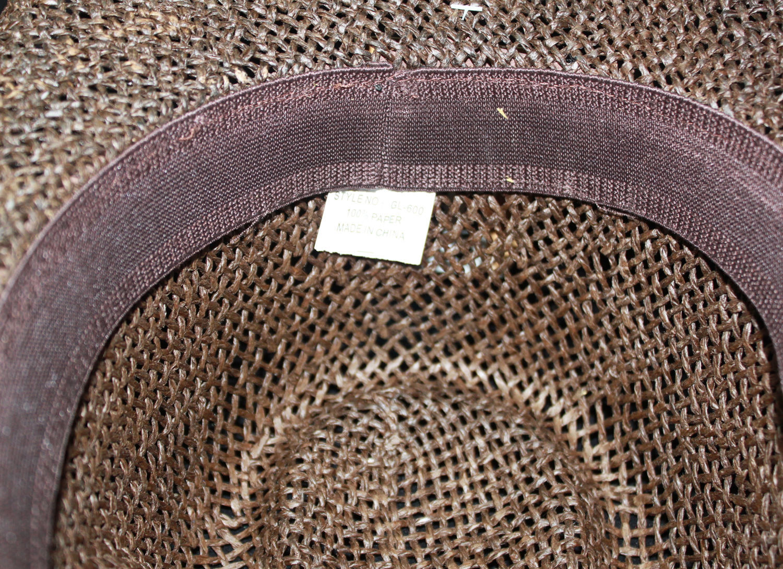 Toyo Cowboy Hat Texas Brooch Straw Cowboy Hat Brown NWT FREE Shipping!