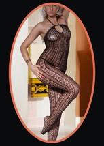Halter Neck and Daisy Pattern Full Body Fishnet Body Stocking - $12.99