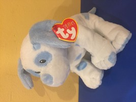 TY Pluffies BABY PUPS Blue Dog Puppy Hearts Plush Baby RETIRED Sewn Eyes... - $13.81