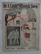 Sheet Music In A Little Spanish Town 1926 Twas On A Night Like This Garv... - $7.43
