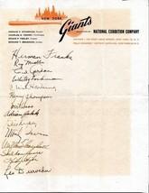 1949 NEW YORK GIANTS Signed team sheet - 14 autographs, Hank Thompson, I... - $470.25