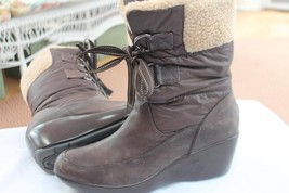 SPERRY TOP-SIDER SIZE 7.5 M FAUX SHEARLING FUR LINING ANKLE BOOTS SHOES - $26.73