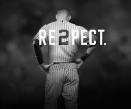 Derek Jeter Respect Vintage 18X24 BW Baseball Memorabilia Photo - $35.95