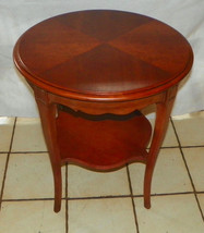 Round Mahogany Lamp Table / End Table by Drexel  (RP) - $299.00