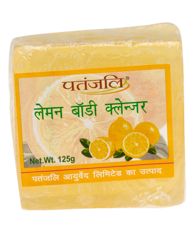 PATANJALI LEMON BODY CLEANSER SOAP BAR- 125gm