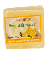 PATANJALI LEMON BODY CLEANSER SOAP BAR- 125gm  - $11.99+