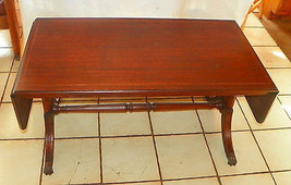 Mahogany Inlaid Dropleaf Coffee Table by Brandt   (RP) - $599.00