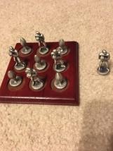 Football Pewter Tic-Tac-Toe Board Game - $17.50