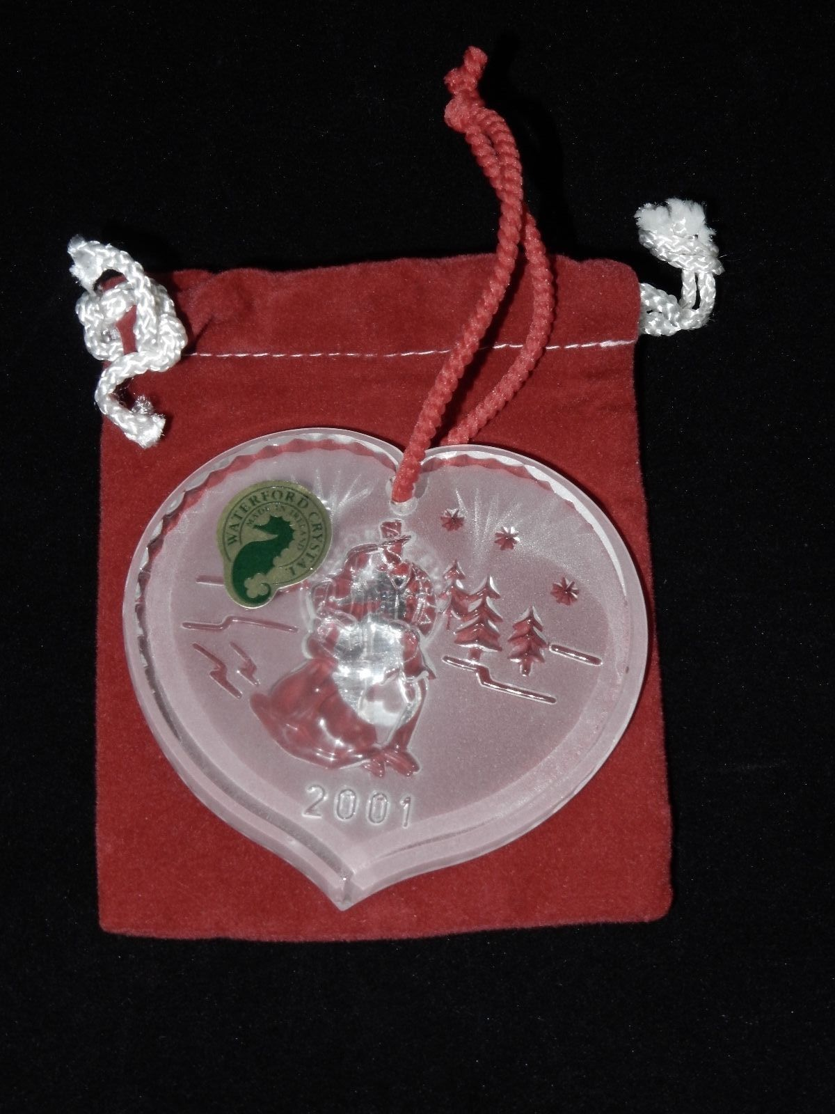 Waterford Crystal Joys Of Winter Ice Skaters Christmas Ornament 2001 4th Edition image 2