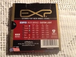 D'Addario EXP13 80/20 Custom light Acoustic Gui... - $35.00