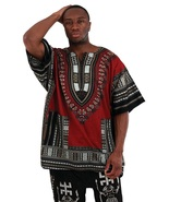 Dashiki  nice up to king and queen size black burgundy thumbtall