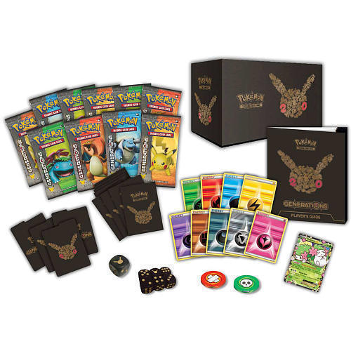 Pokemon TCG Generations Elite Trainer Box + Pikachu EX Red and Blue Collection