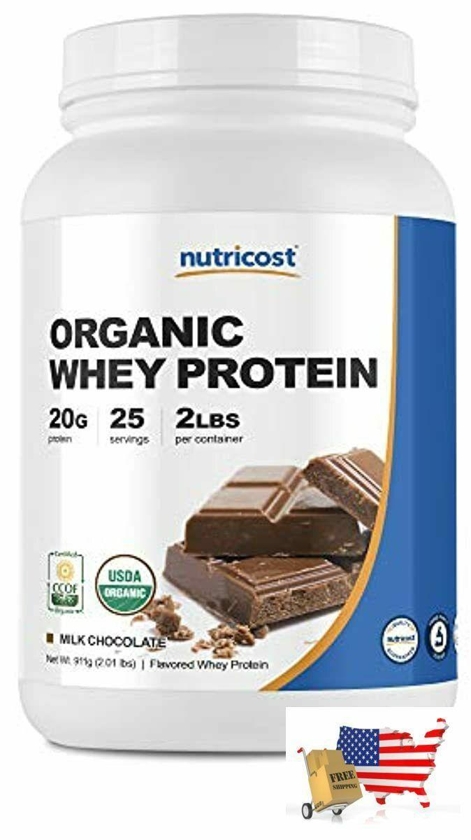 Nutricost Organic Whey Protein Powder (Chocolate) 2 LB - Non-GMO - $97.78