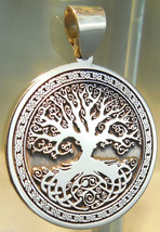 Pendant Celtic Tree of Life Amulet Jewelry 925 sterling silver p422 - $37.62