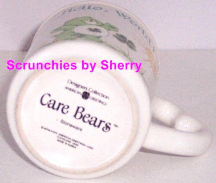 Care Bears Mug Hello World Tea Coffee Cup Vintage 1980s Bear