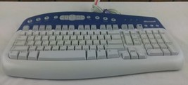 Microsoft Multimedia Keyboard 1.0A KB-0168 Wired PS/2 - $10.70