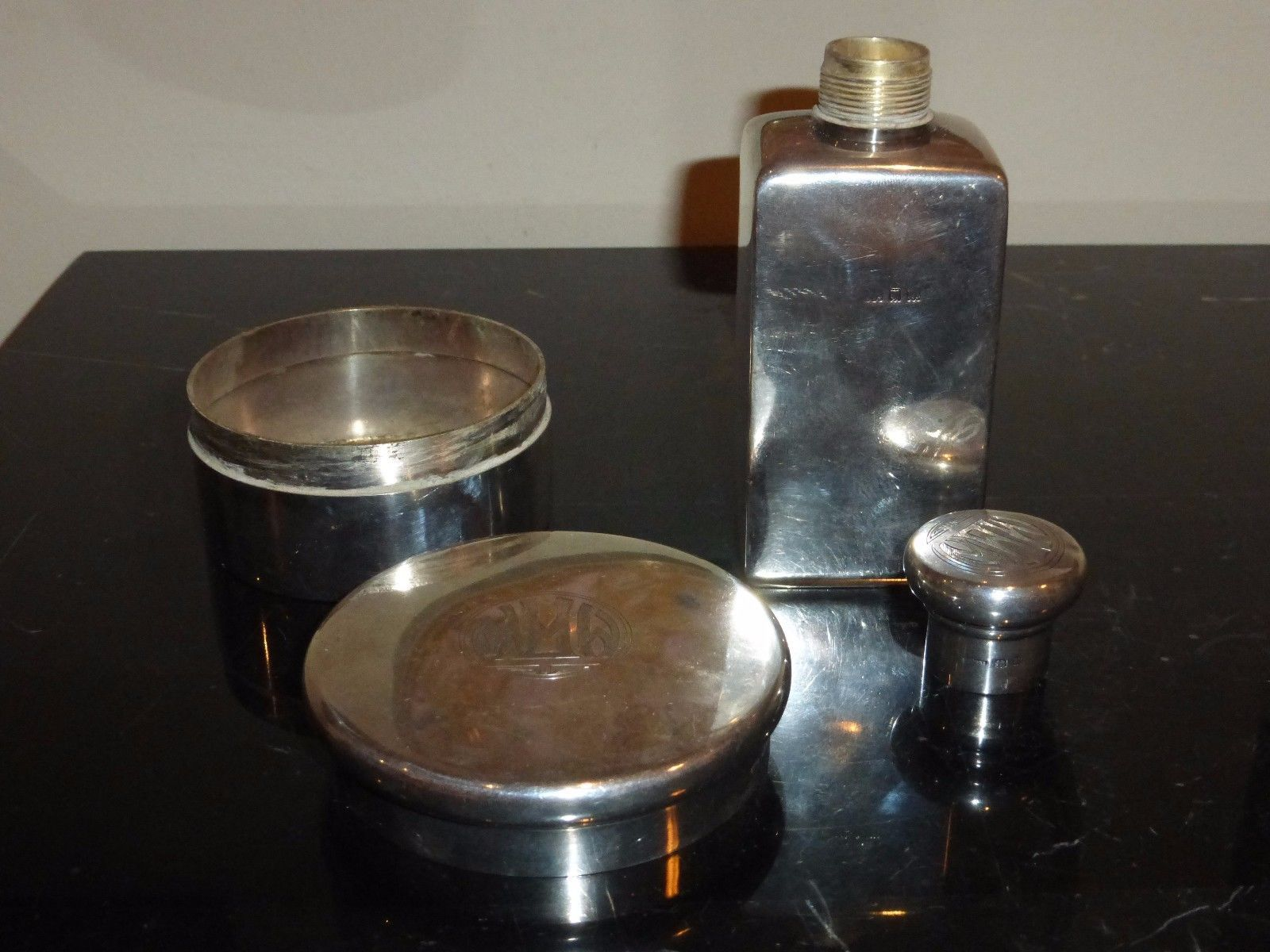 Antique 1930's English Clifford Bros Sterling Vanity Set