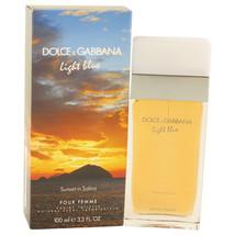 Dolce & Gabbana Light Blue Sunset in Salina Perfume 3.3 Oz Eau De Toilette Spray image 2