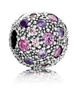 925 Sterling Silver Cosmic Stars with Fancy Purple Clip Charm Bead QJCB320 - $21.68