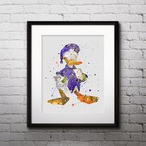 Donald Duck Disney Print Printable Watercolor Art poster Decor painting ... - $1.75