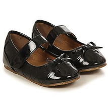 Black Faux Leather Round Toe Quilted Mary Jane Style Birthday Flower Girl Shoes - $27.00+