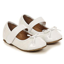 White Faux Leather Round Toe Quilted Mary Jane Style Birthday Flower Girl Shoes - $27.00+