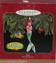 Disney Ariel Little Mermaid Hallmark Ornament  Flounder Christmas 1997 V... - $34.95