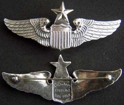 WWII Senior Pilot Luxenberg Sterling 3 inch Pin Back        - $90.00