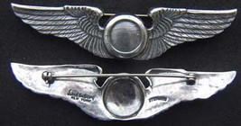 WWII Observer Wings Luxenberg Sterling Silver 3 inch PB         - $85.00