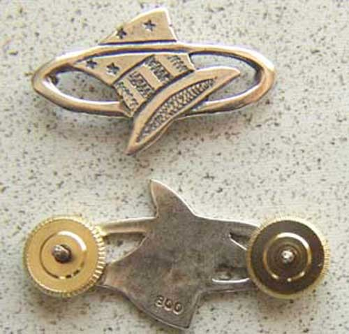 Primary image for WWI 94th Aero Squadron Hat in the Ring Sterling Pin    c