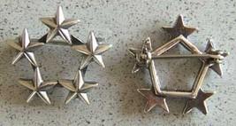 5 Star General Collar Rank, Army, Navy AF Sterling     - $50.00