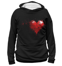"Fashion Mens Full Printed 3D Hoodie All Sizes XS - 5XL ""Heart"" - $49.95"