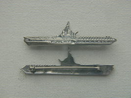 WWII Midway Aircraft Carrier Sweetheart Pin Sterling Silver      - $45.00