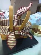 Longaberger Picture Perfect Sweetheart Basket - Swing Handles - Liner/Pr... - $13.75